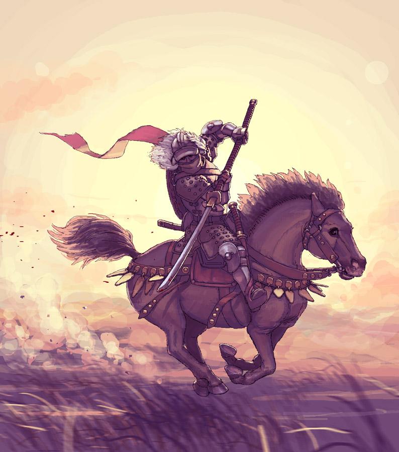 Lone horseman