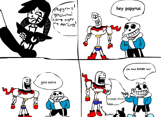 papyrus and sans sexual atitude