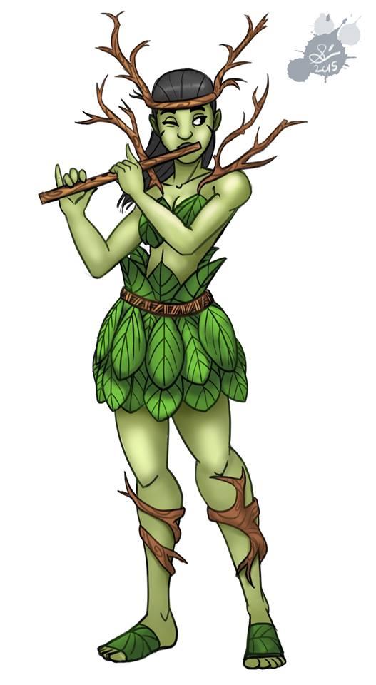 Woodland Flute Girl