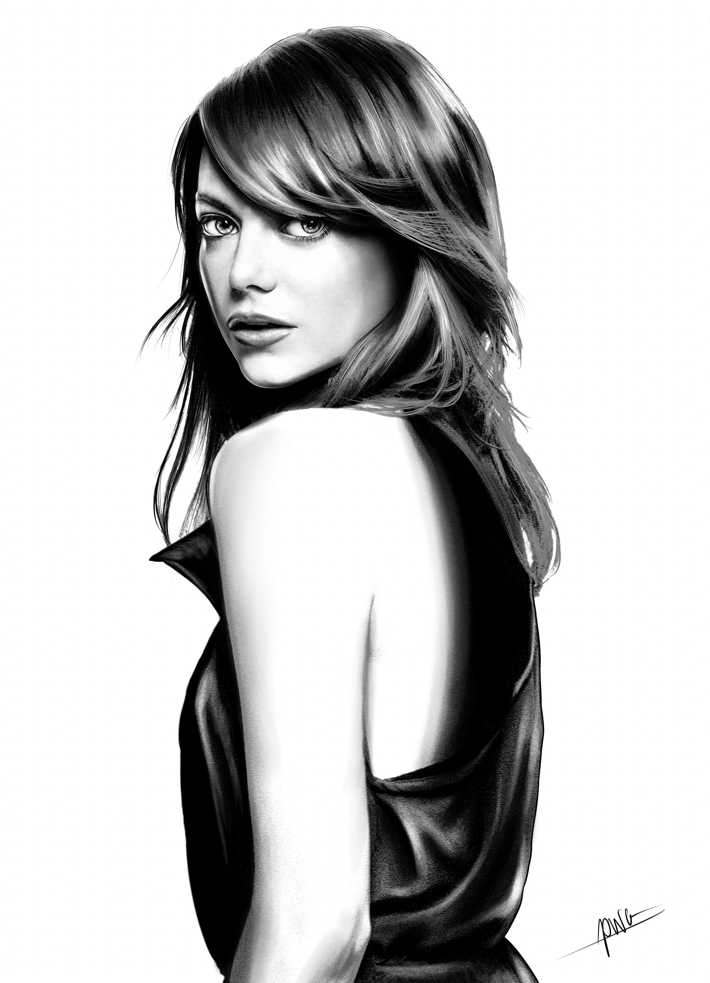 Emma Stone[Clean portrait]