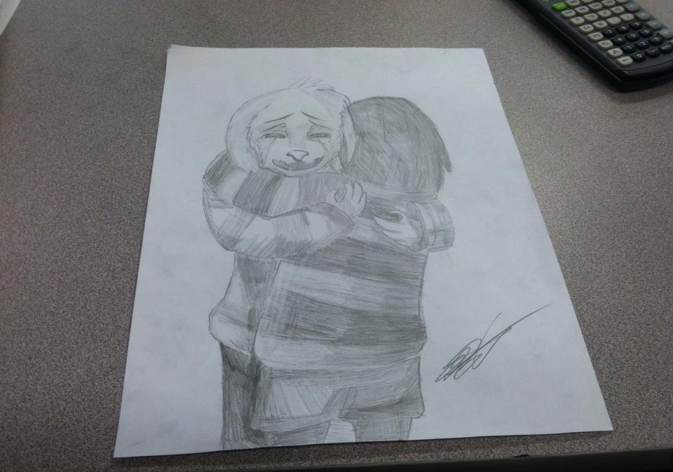 Undertale - Frisk and Asriel Hugging