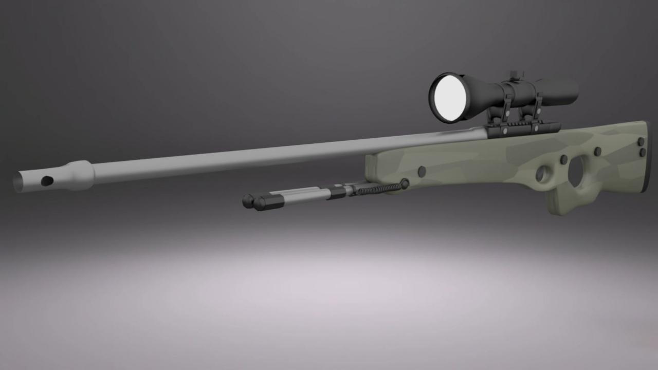 CSGO AWP [ Sniper ] - Blender ( time lapse )