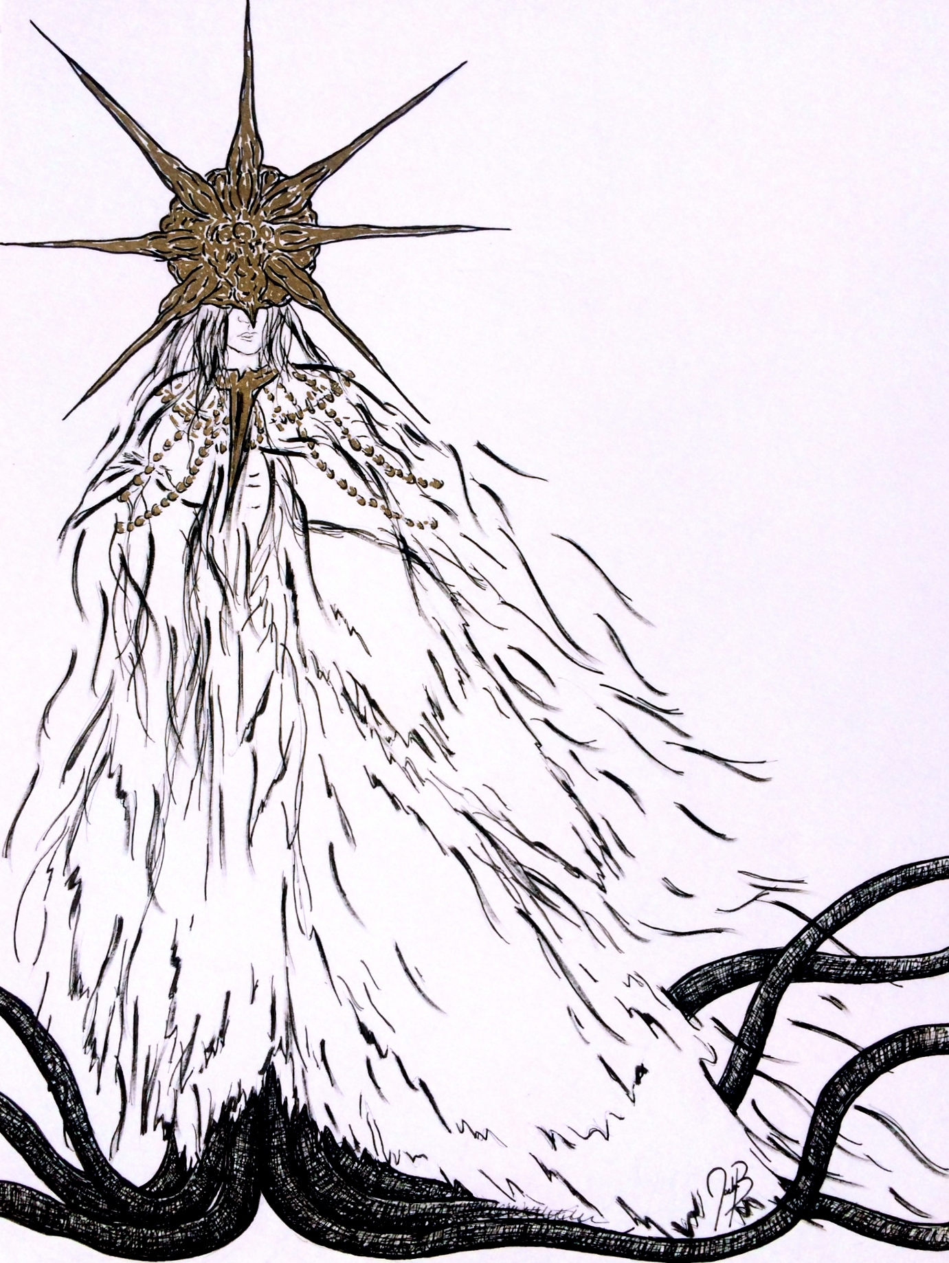 Commission: Dark Sun Gwyndolin