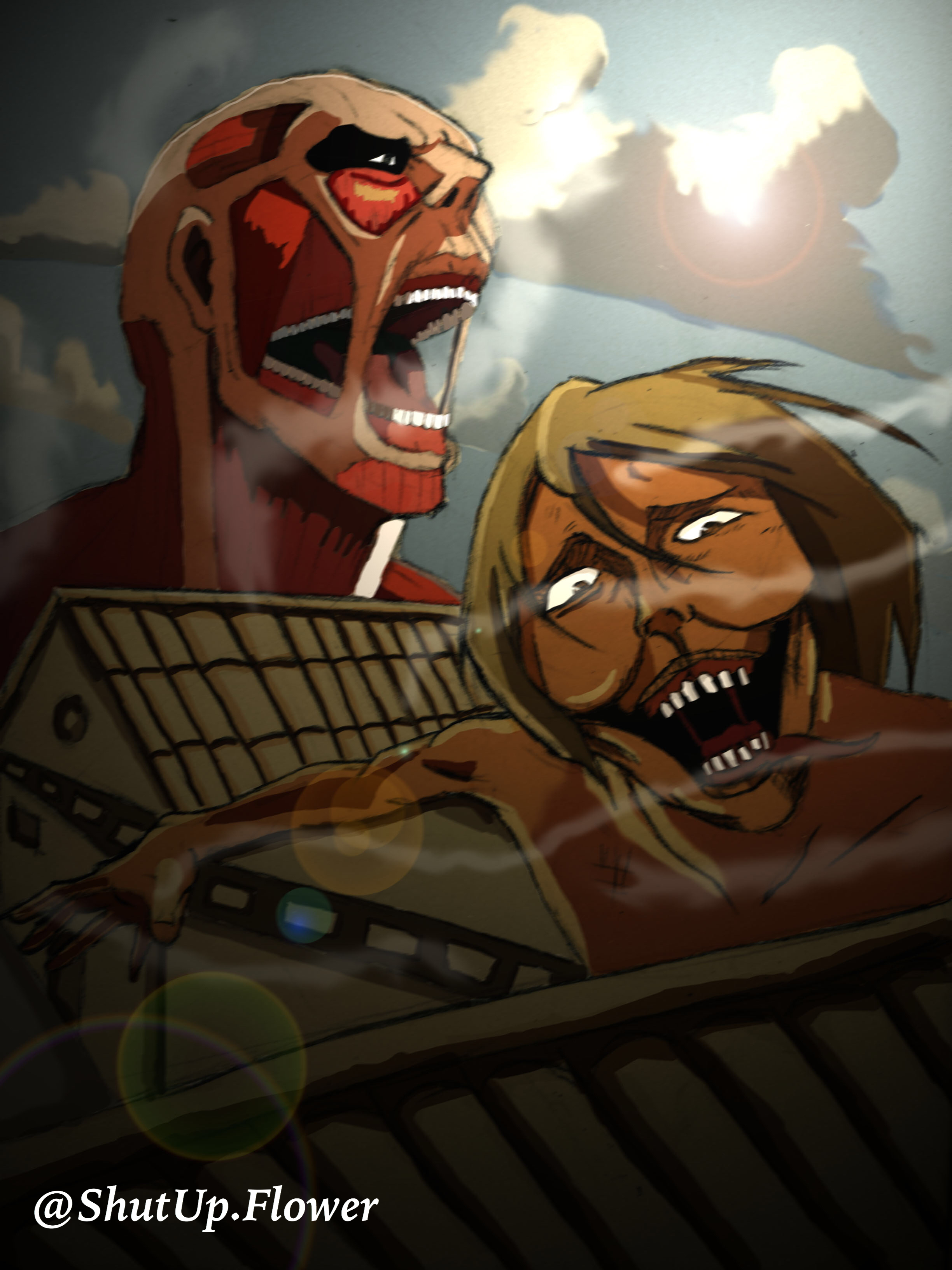 Fan art of Attack on titan