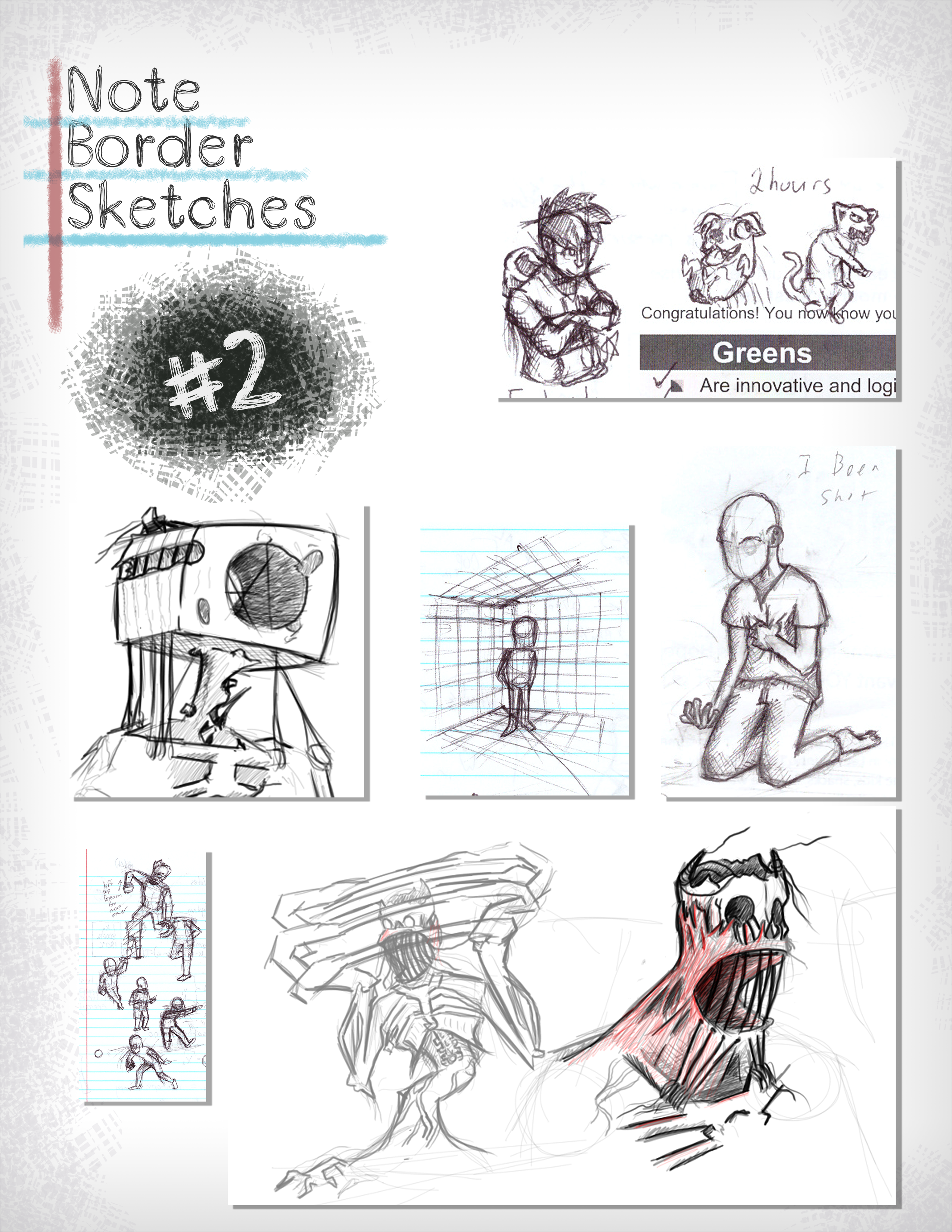 Note Border Sketches #002