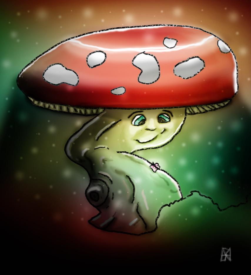 Happy Little Mushroom