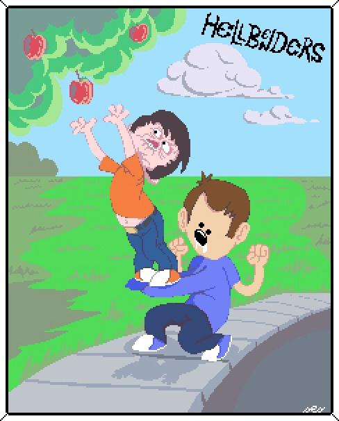Hellbenders like apples