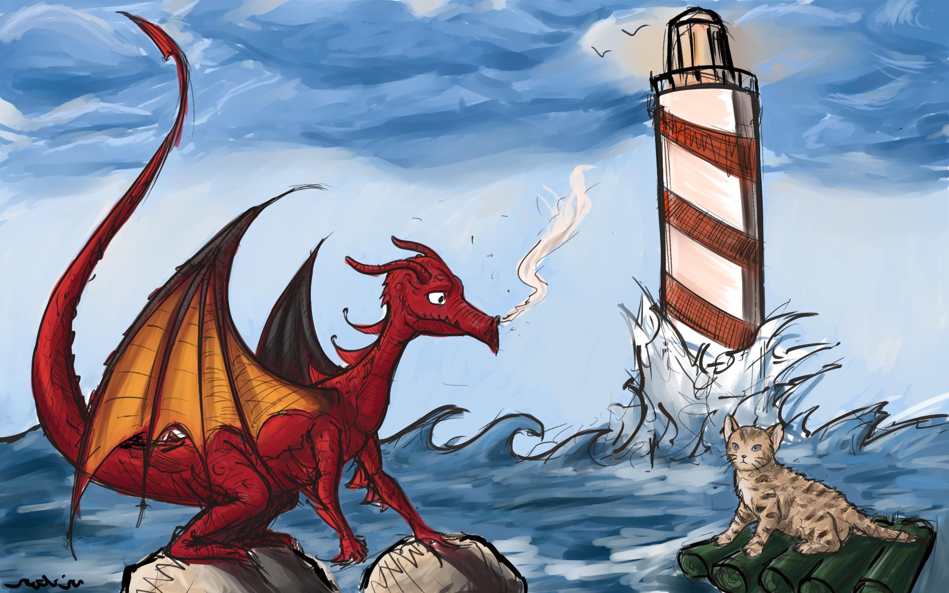 Dragon vs kitty