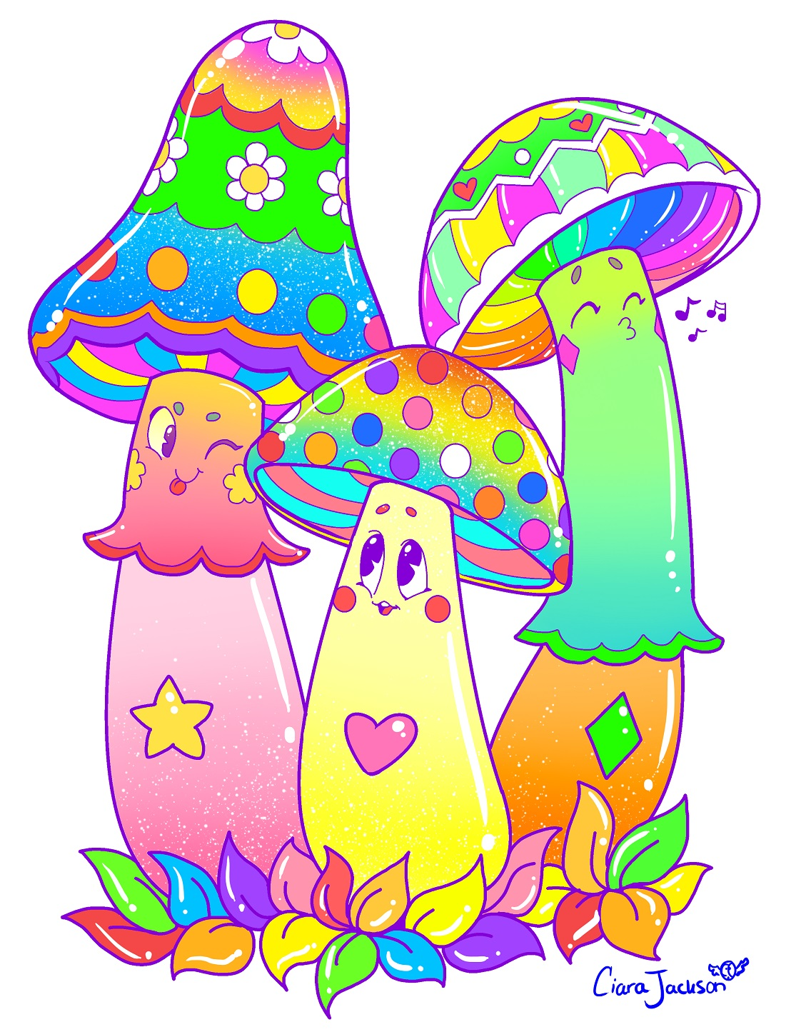 Colorful Mushroom Friends!