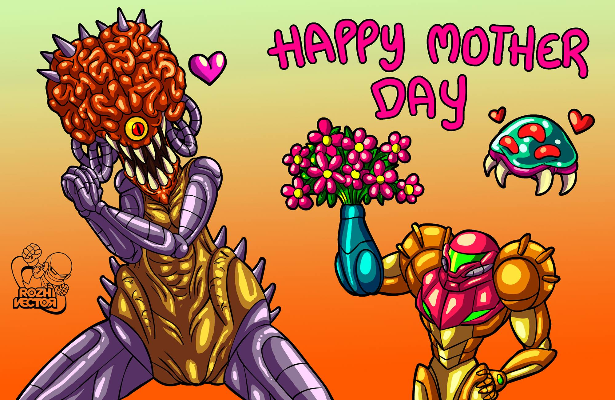 Happy Mother Day Mother Brain Metroid