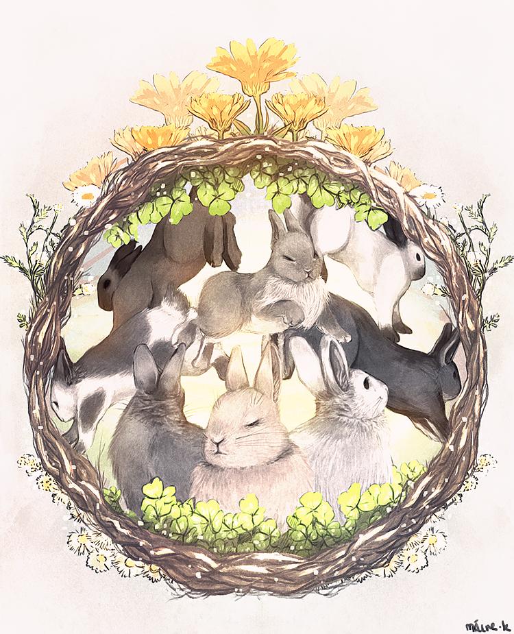storybook rabbits