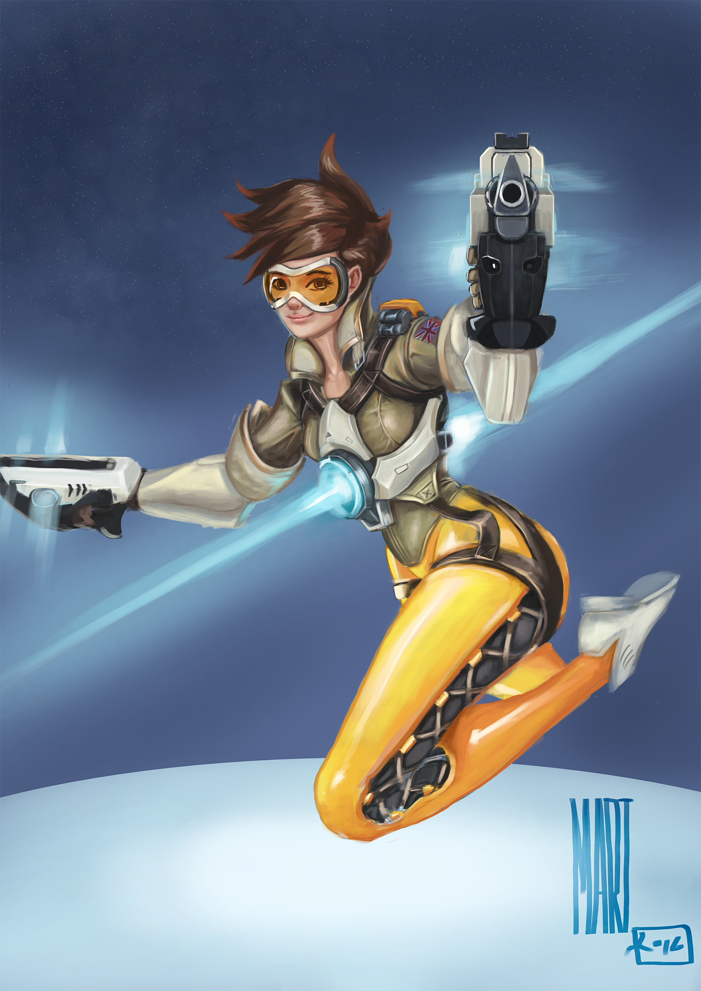Tracer From Overwatch Speedpainting
