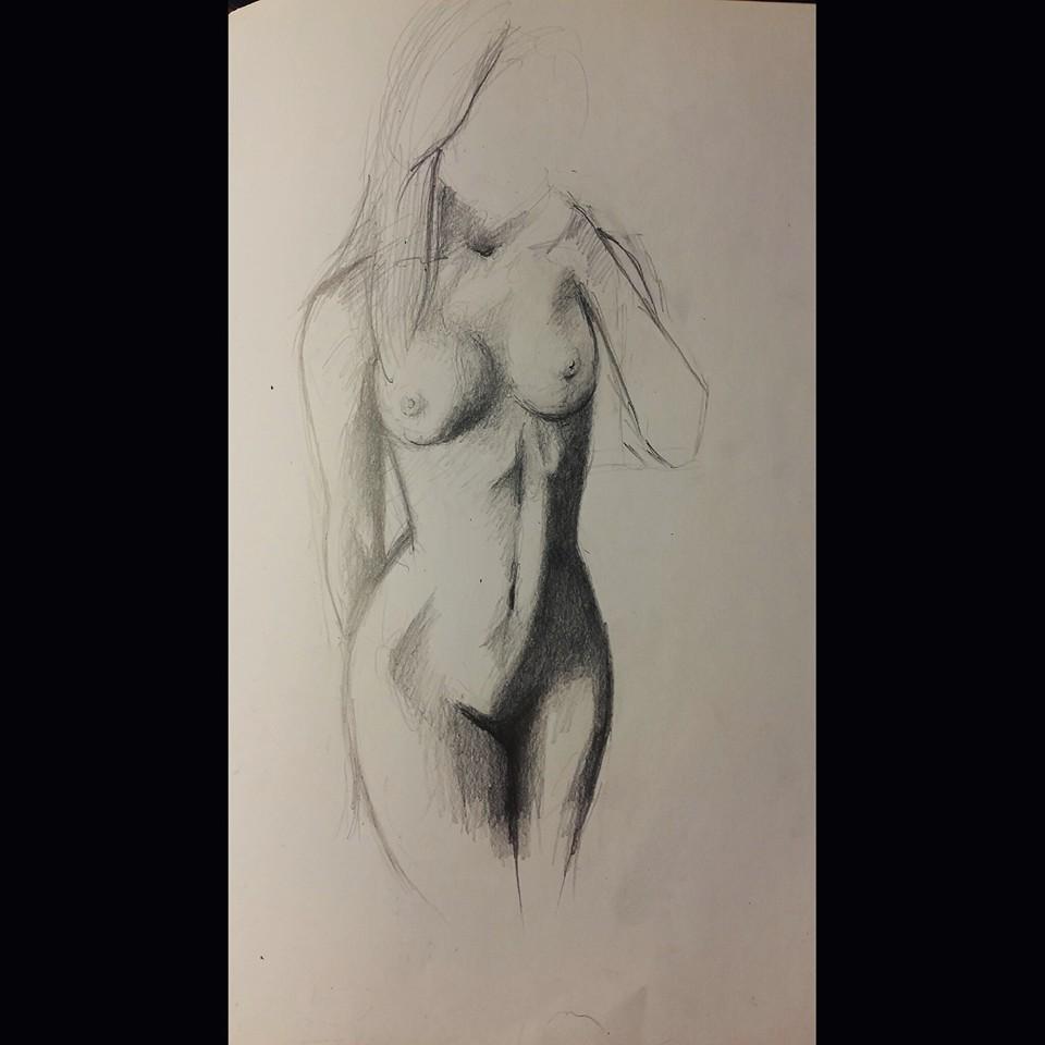 Graphite nude sketch