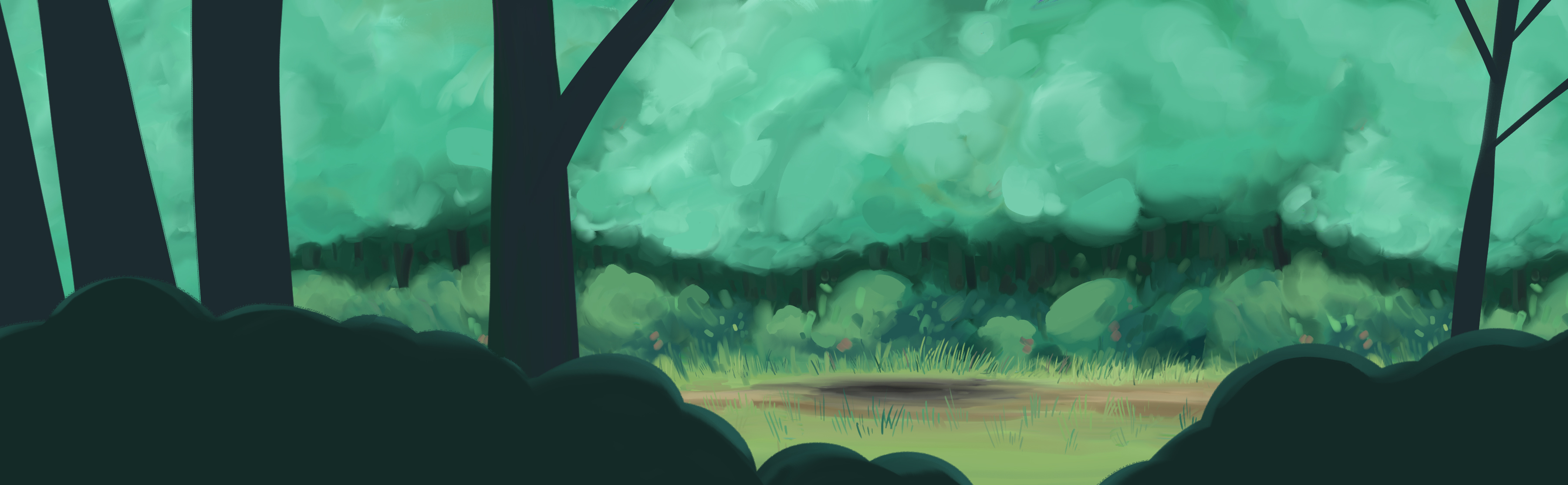 "Background painting for AlecArts ""Magic Cat"""