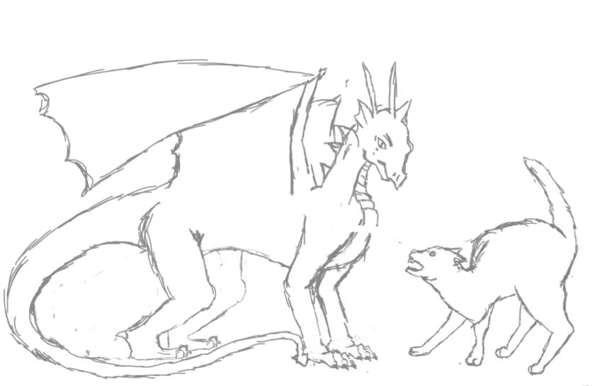 Work in progress of jazza's cotm: Dragons vs Kittens