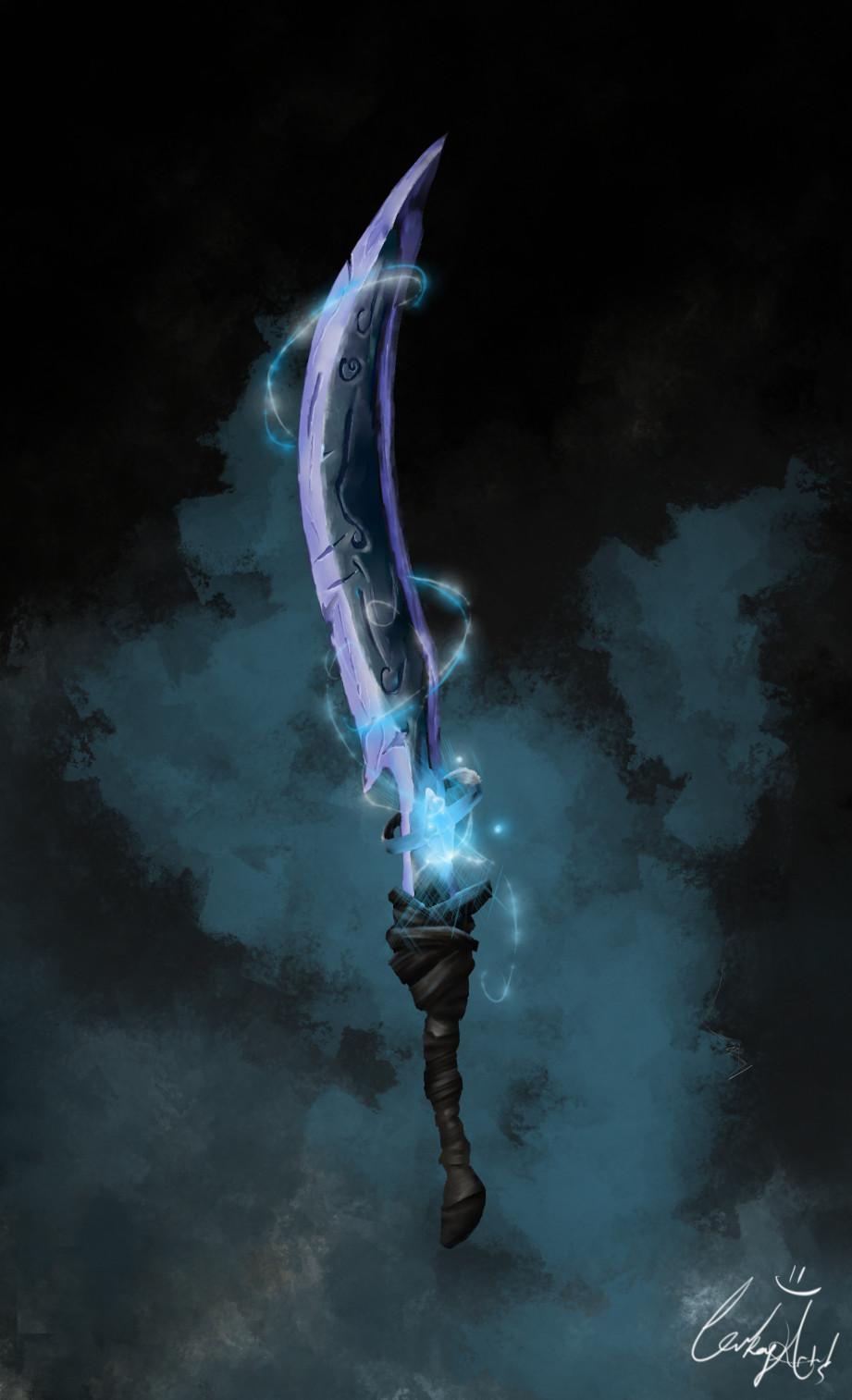 Blizzard-esque sword