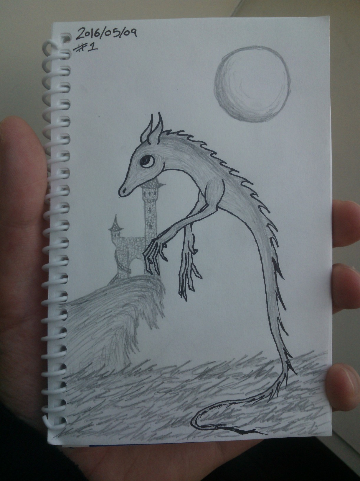 Every Day A Drawing #1: Spirit Dragon