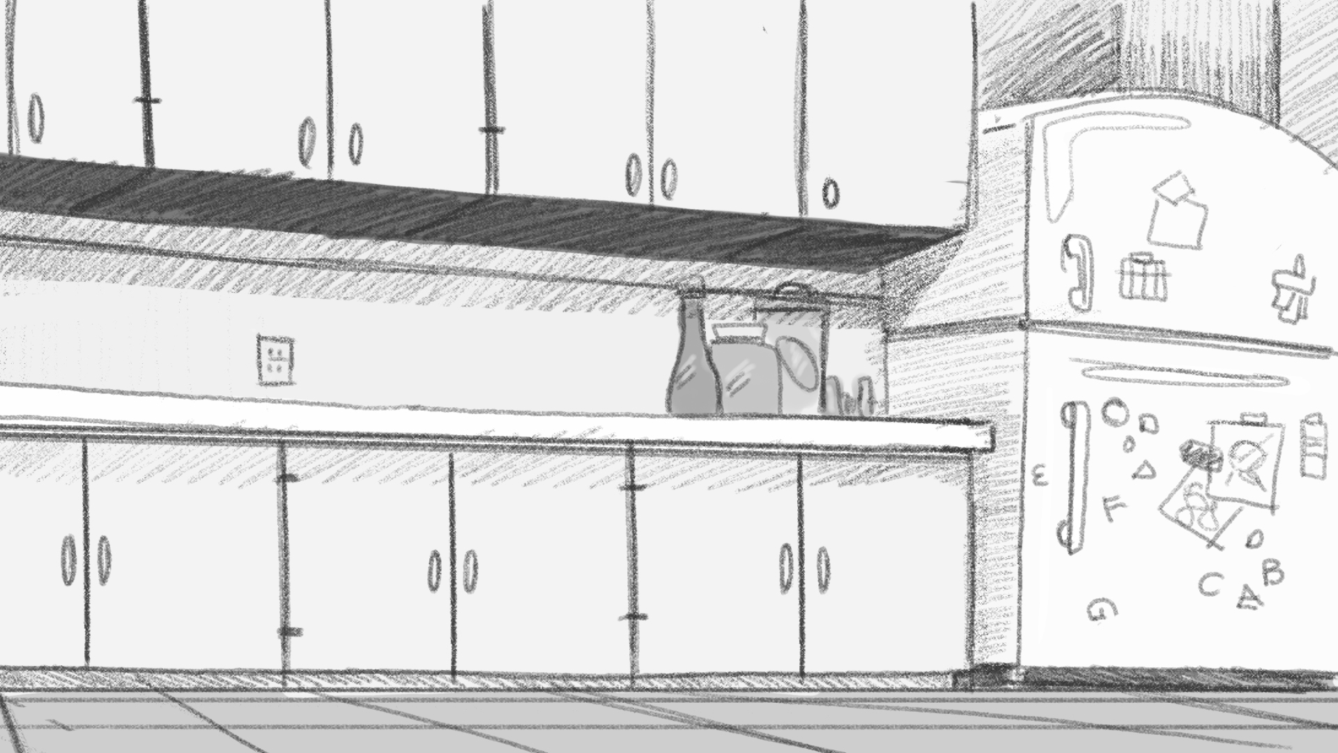 Background painting for Heavy lift animation