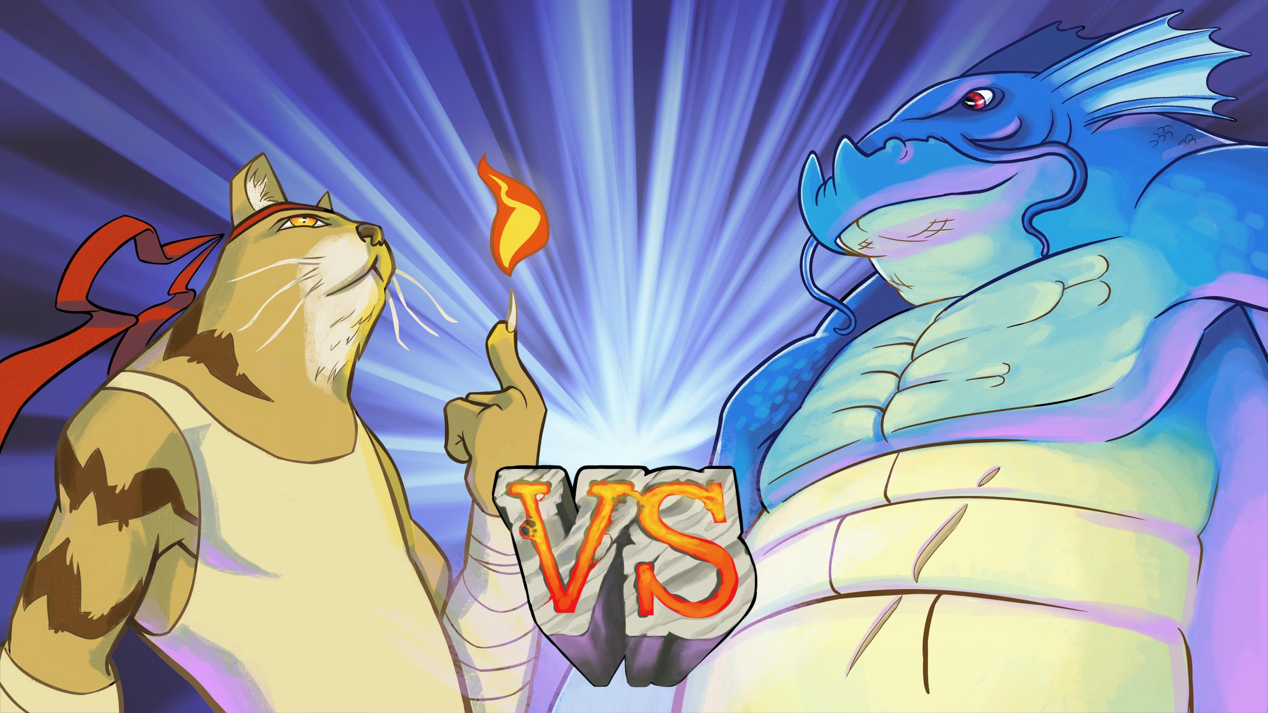 Kitten Vs Dragon.. Fight!!