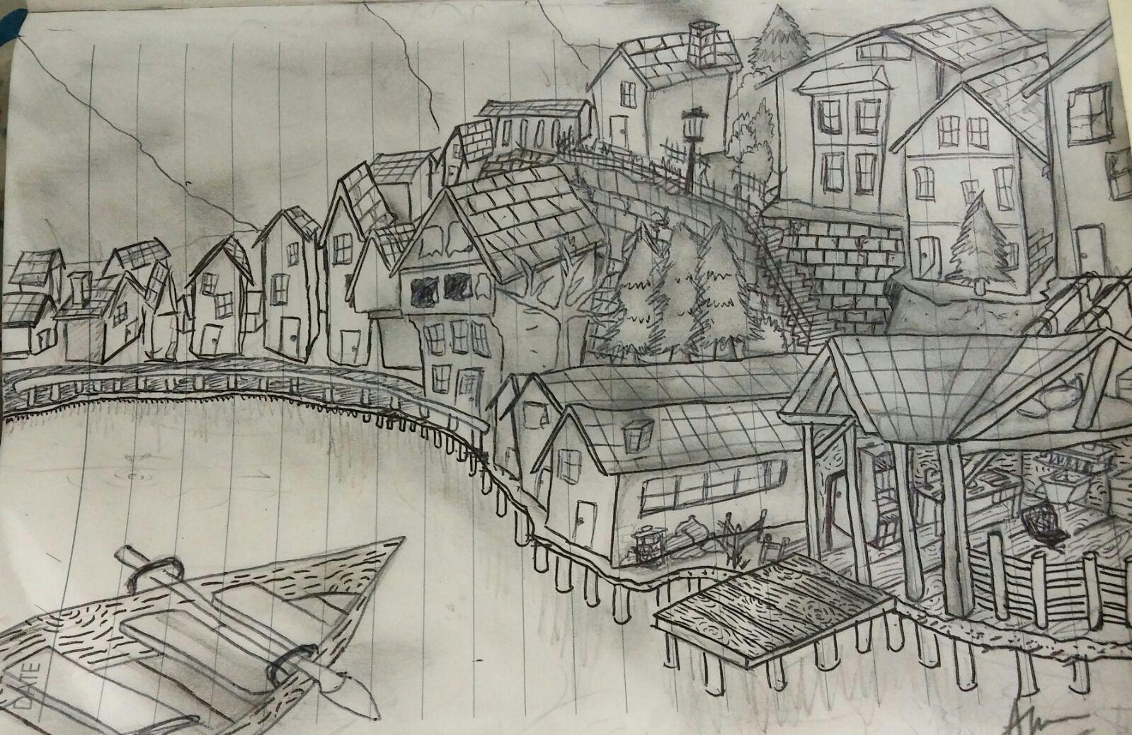 Town By A Lake