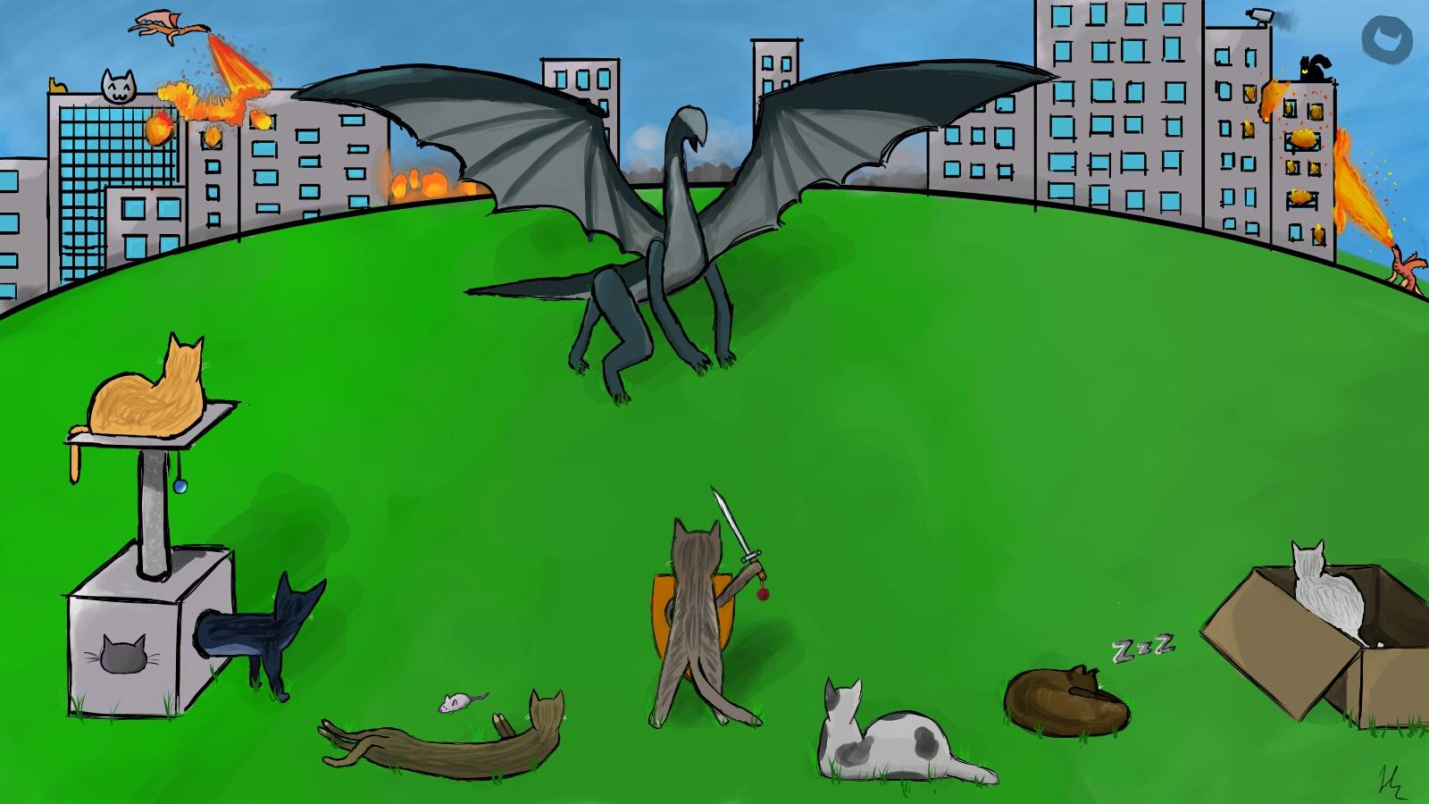 Kittens Vs Dragons