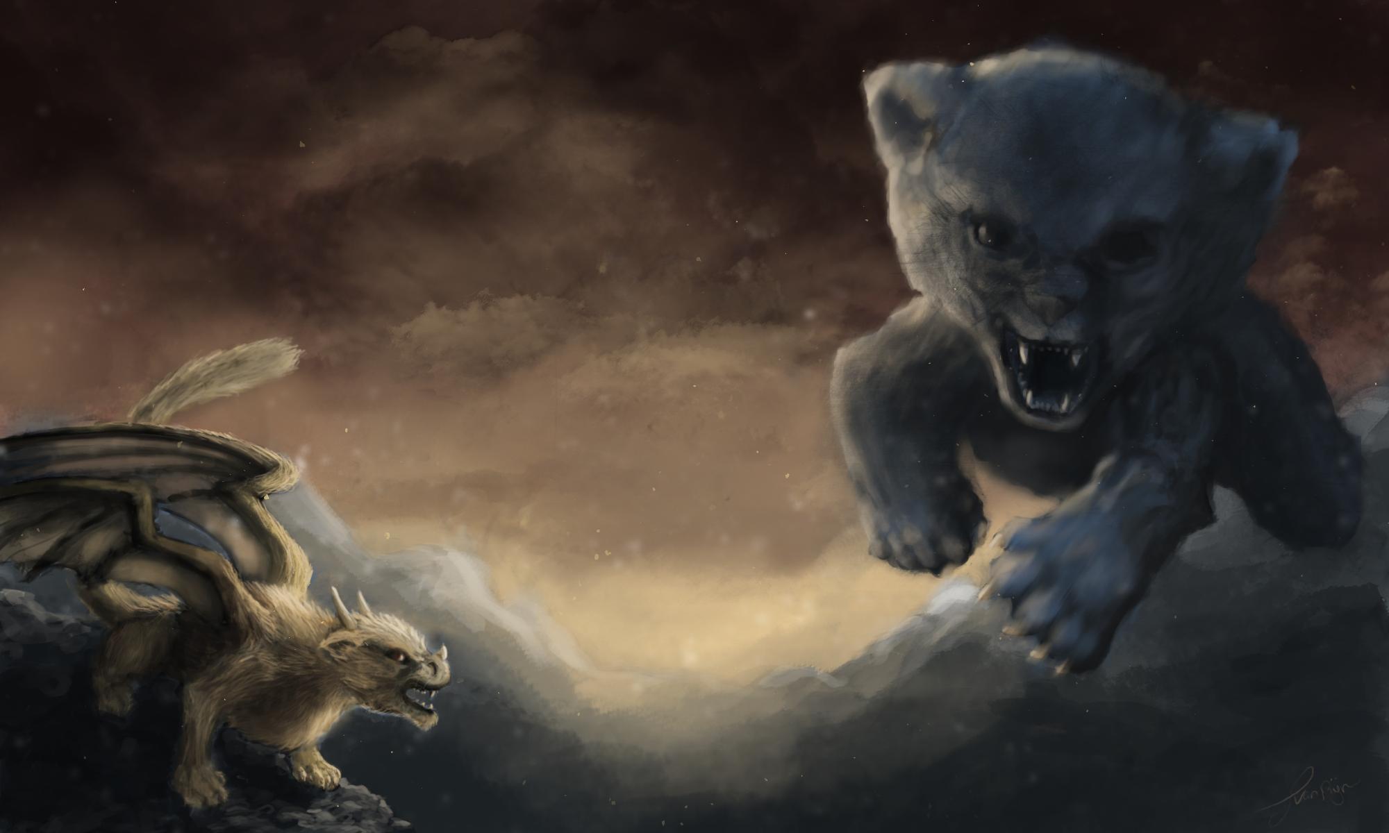 the dragon vs the kitten