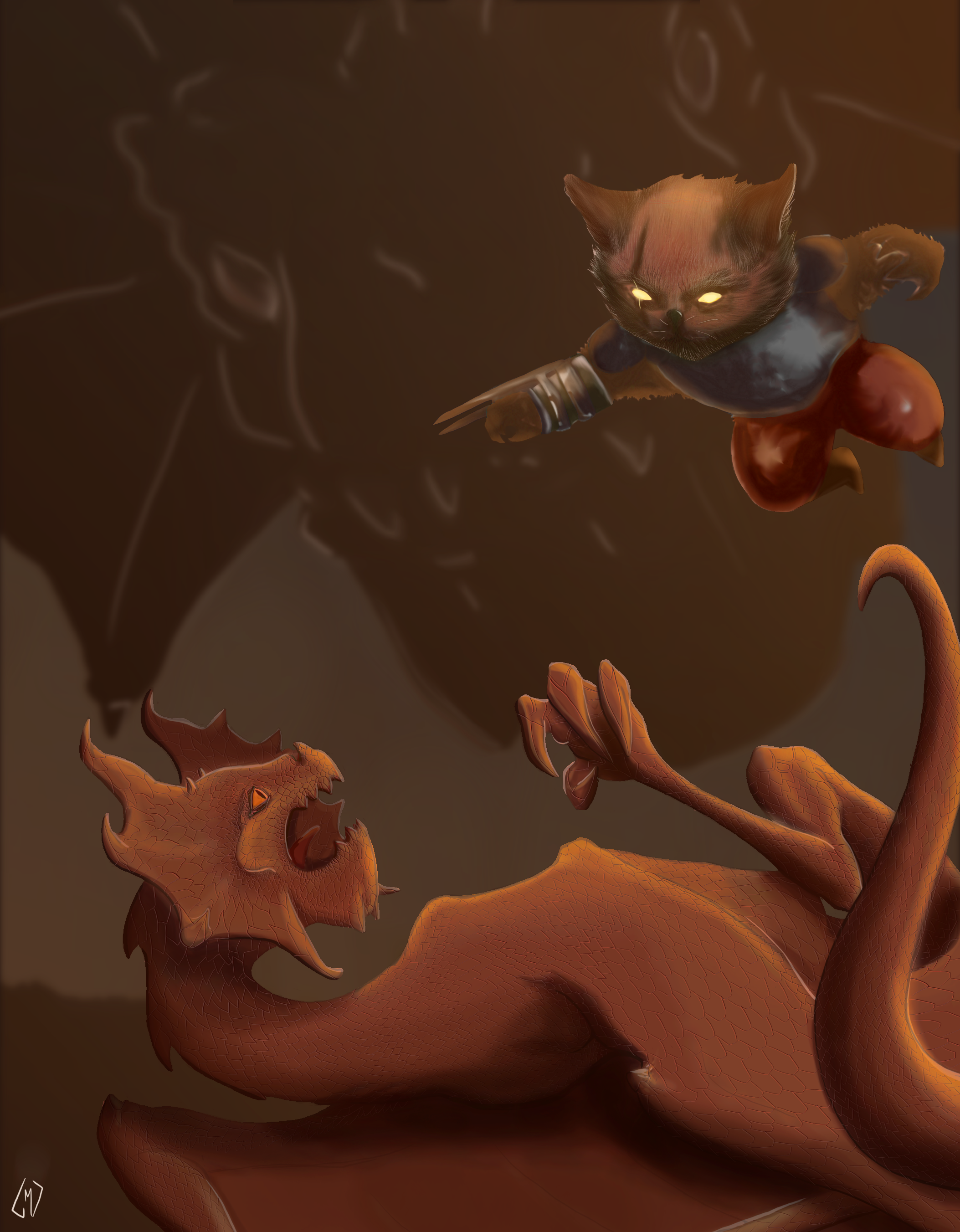 Dragons vs Kitten