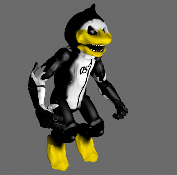 Dark Penguin Animatronic Model