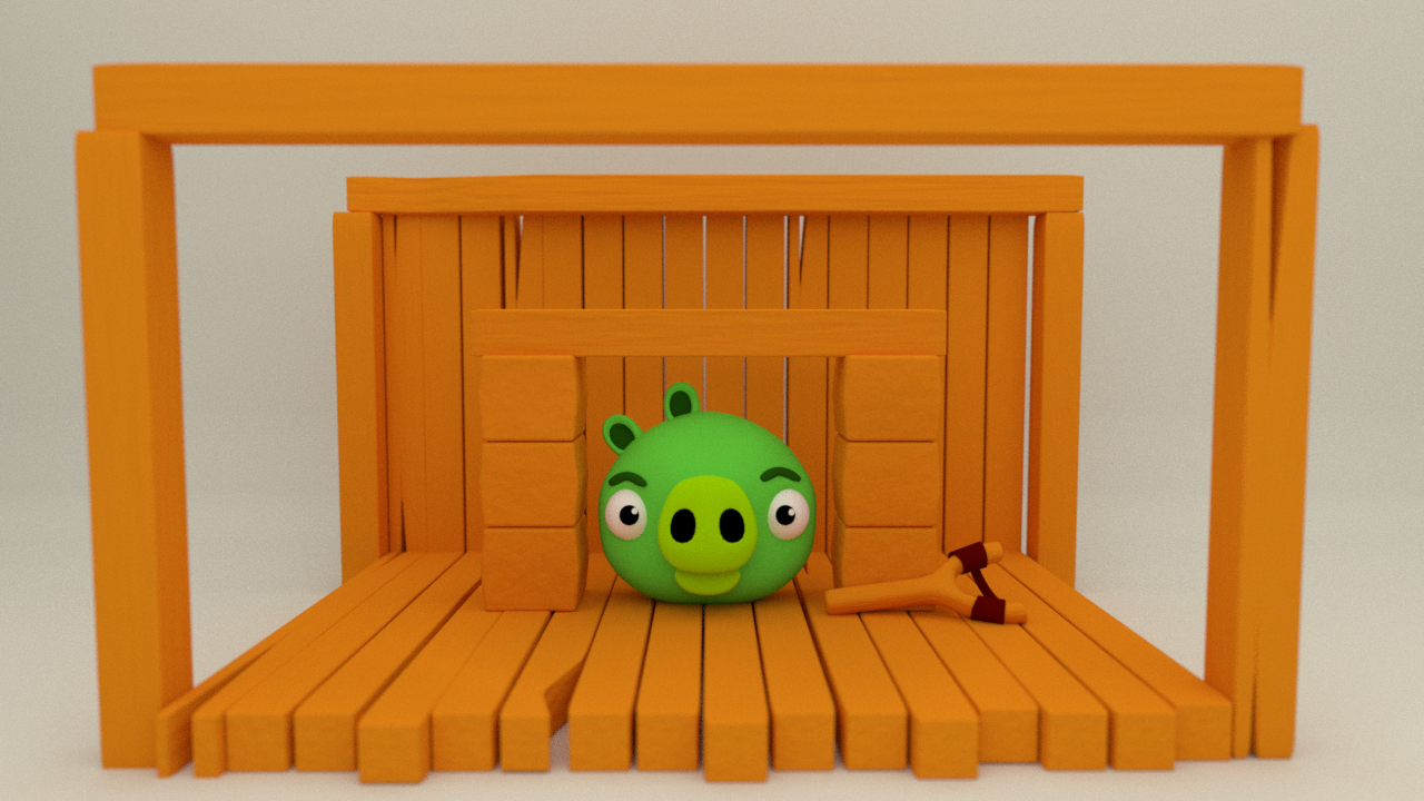 Angry Birds Pig - Blender ( time lapse )