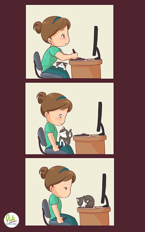 Chibiday #2: Cat on work