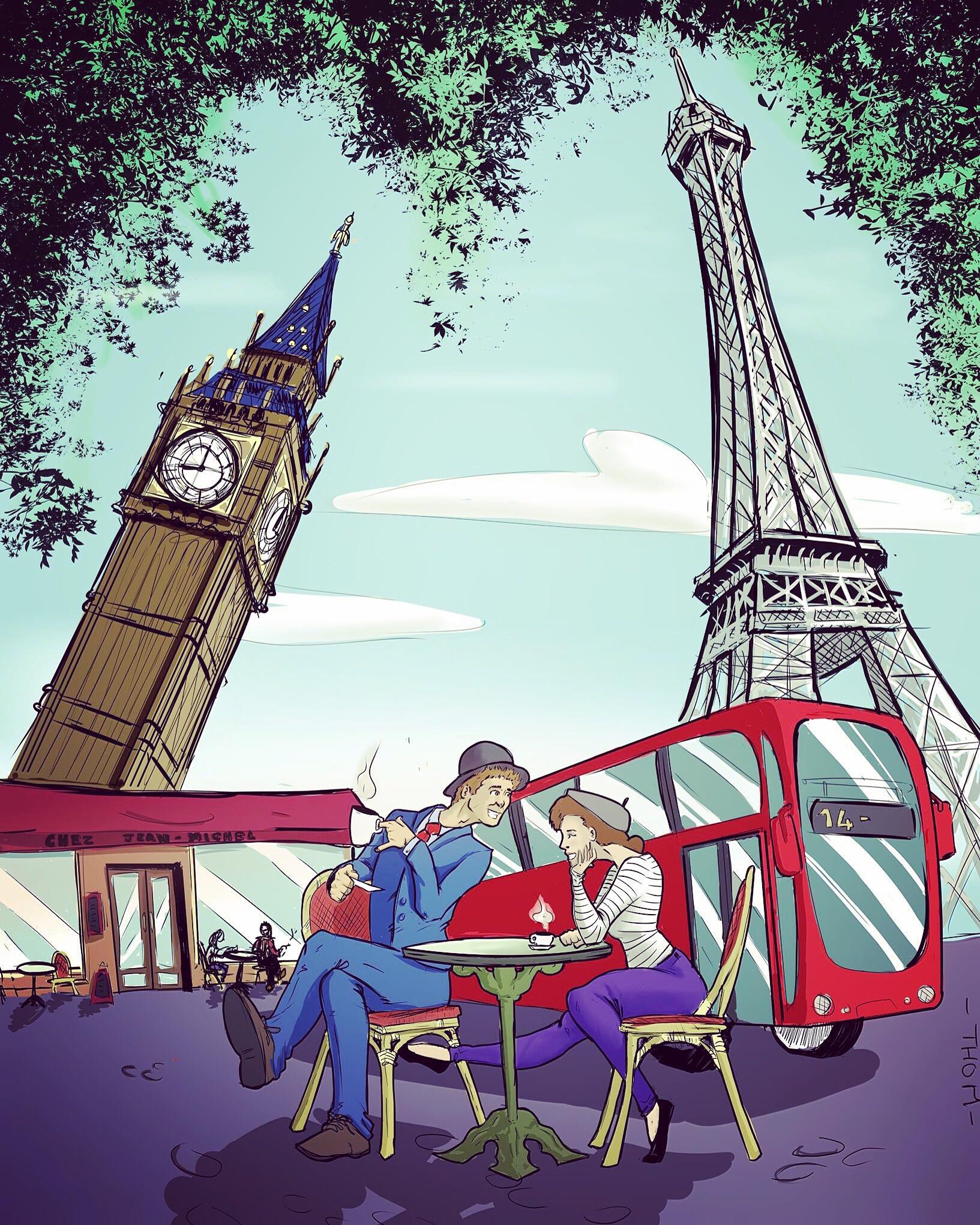 When paris met london- color