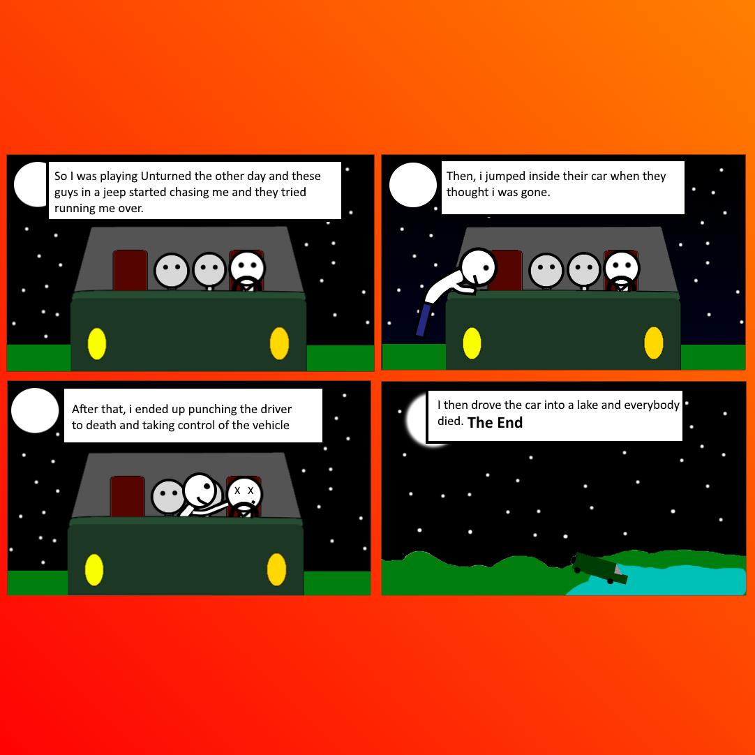 Cars!!! - Unturned Comic 1