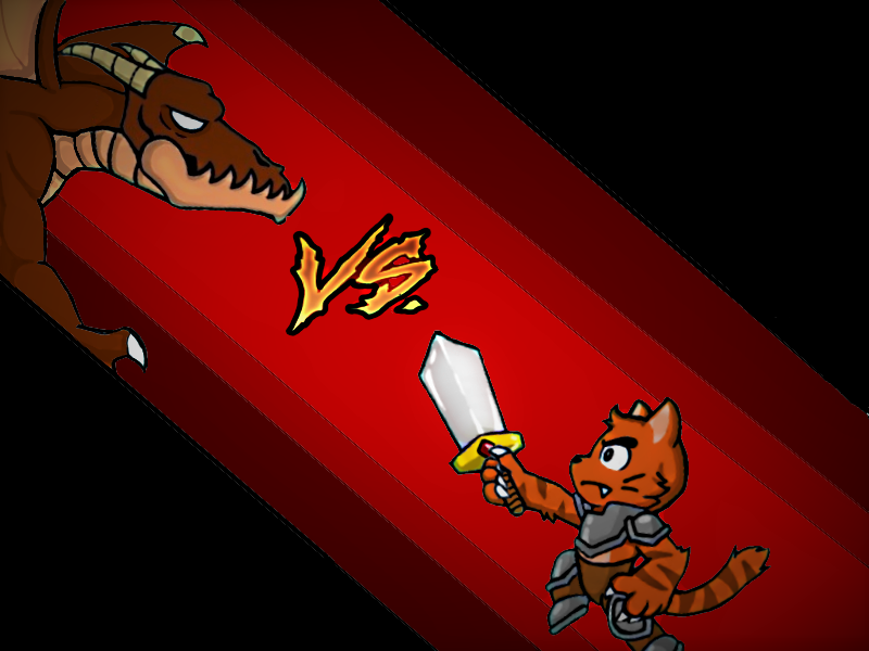 DRAGON VS A KITTEN KNIGHT