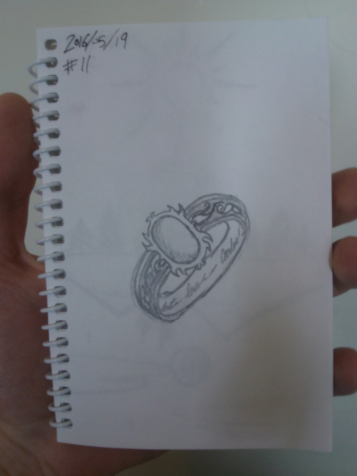 Every Day A Drawing #11: Ornate Ring