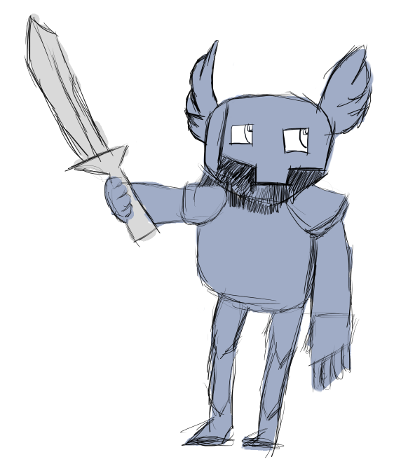 Knight With Wing Helm Sketch