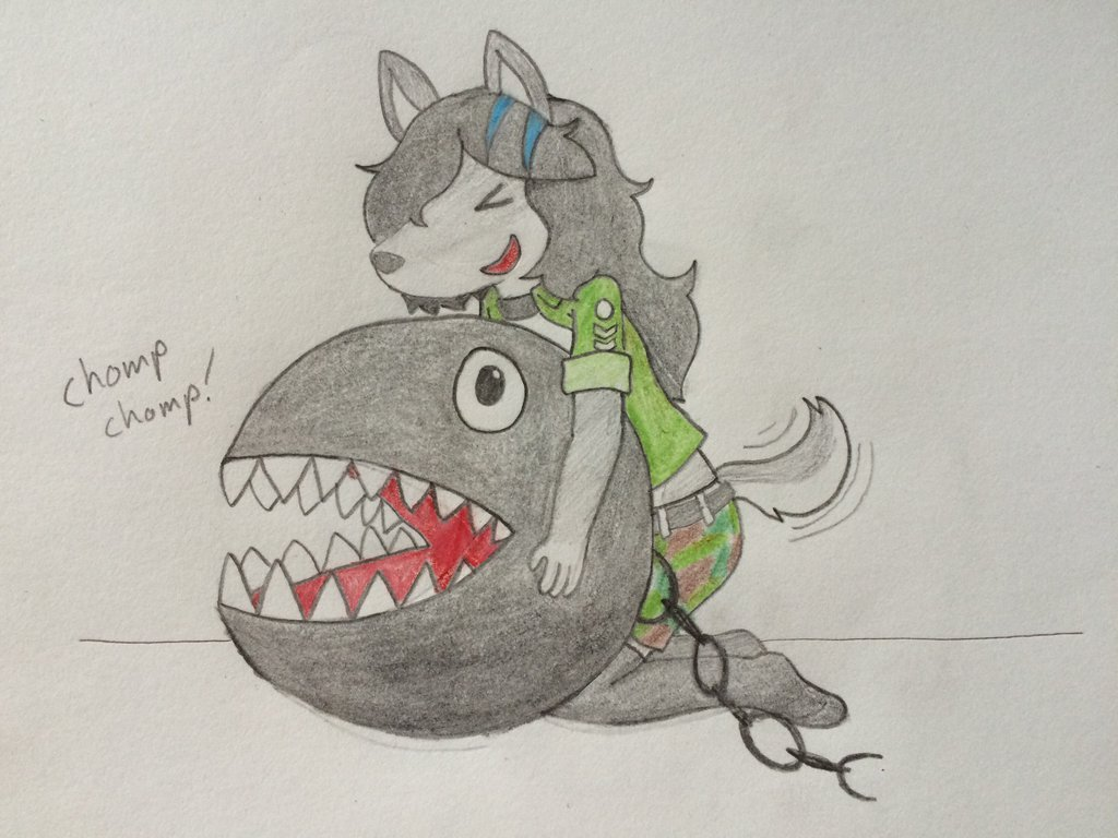 Claire and Chain Chomp