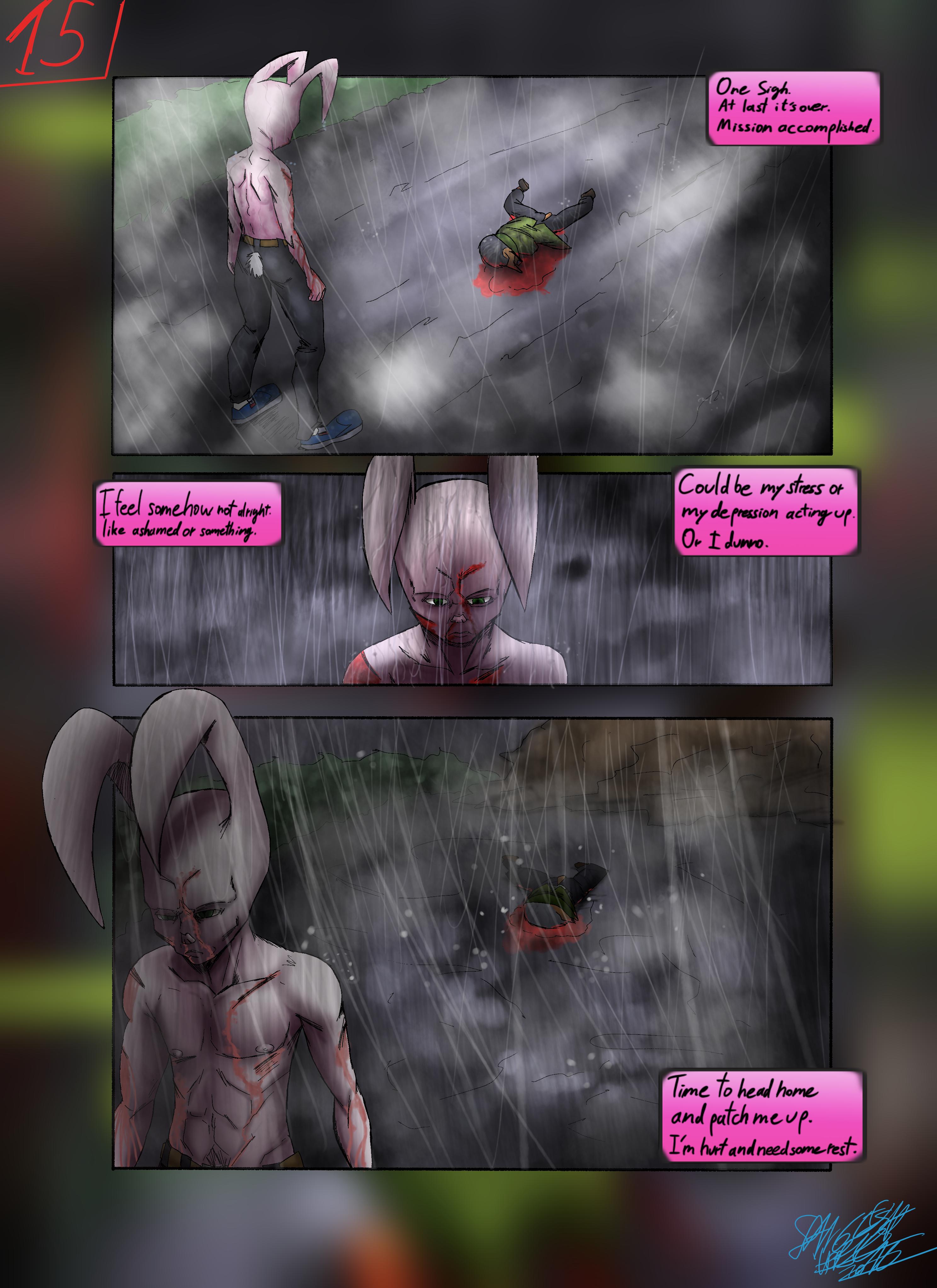 Bob the Psycho Rabbit Vs Alfred Alfer Page 15 (comic) (15/39)