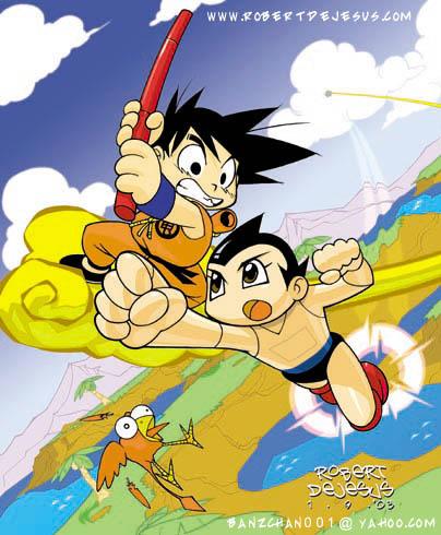 Goku Versus Astroboy