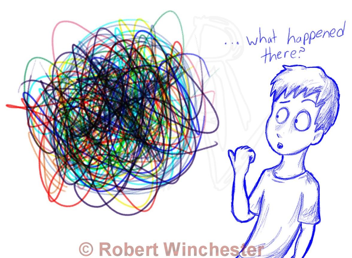 Glenn & the multicolor spiral