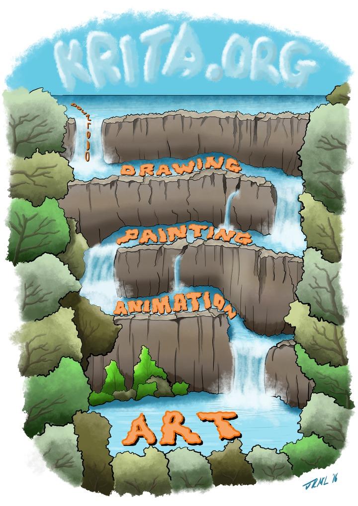 Flow - Krita monthly challenge