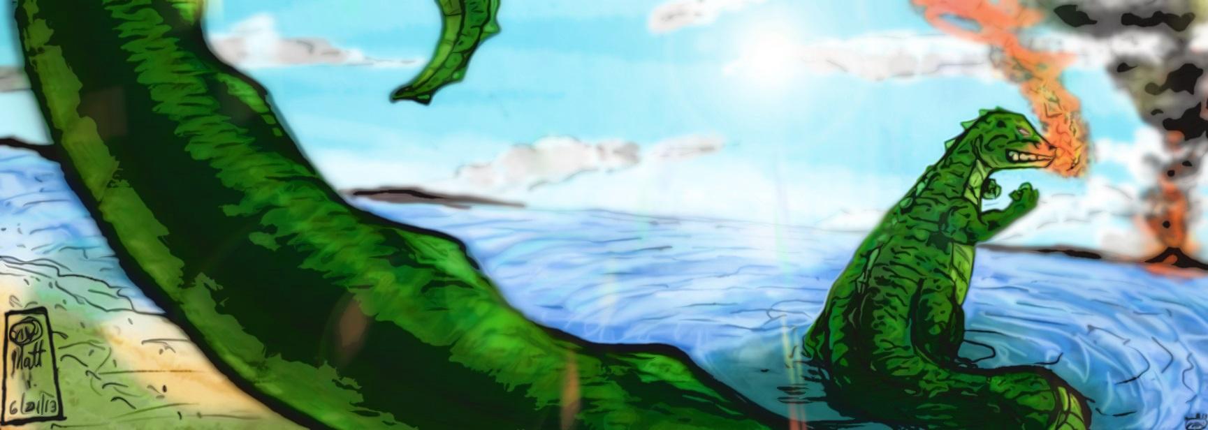 Monster Movie Big Lizzard