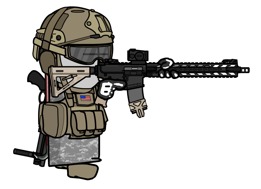 Solider with BCM AR