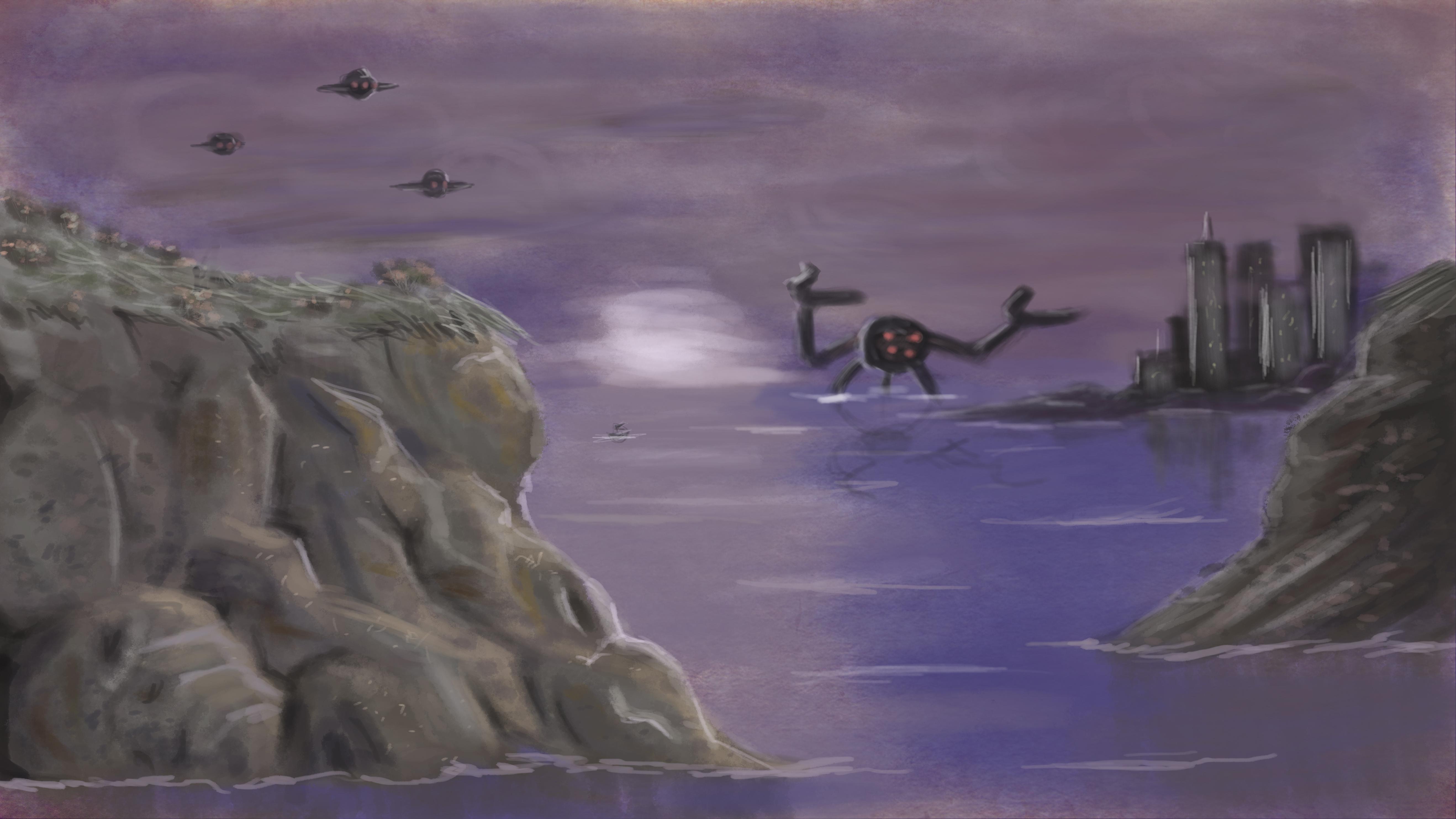 Cliffside Seascape