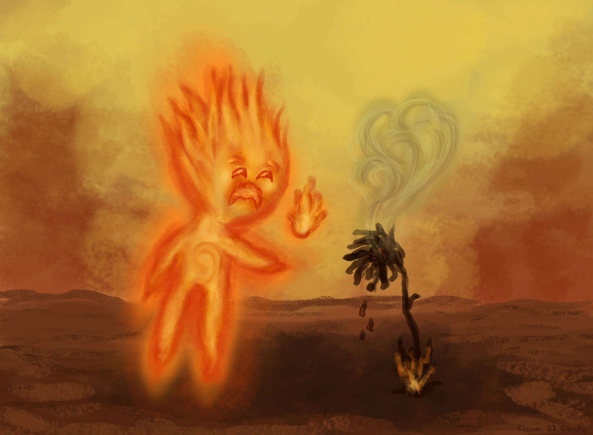 Young Fire Spirit