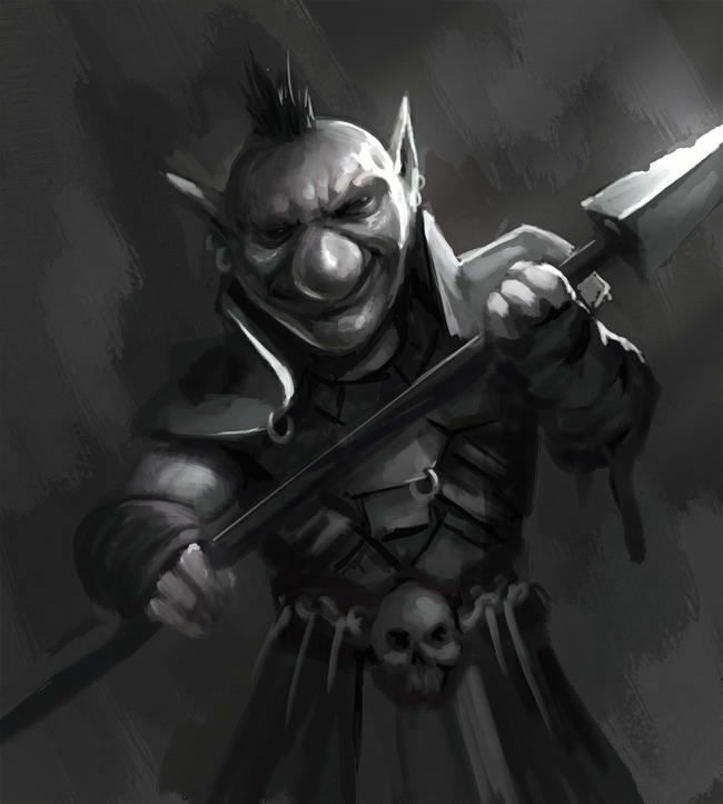 Goblin Warrior Speedpainting