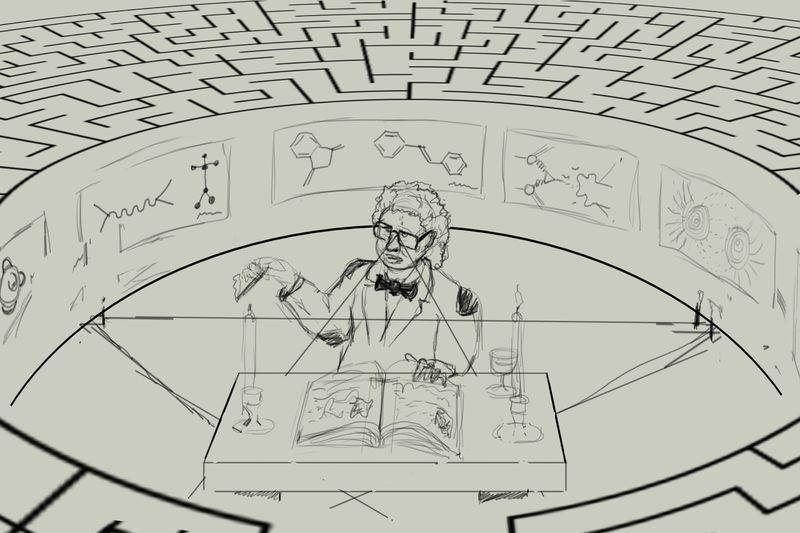 Professor in maze WIP