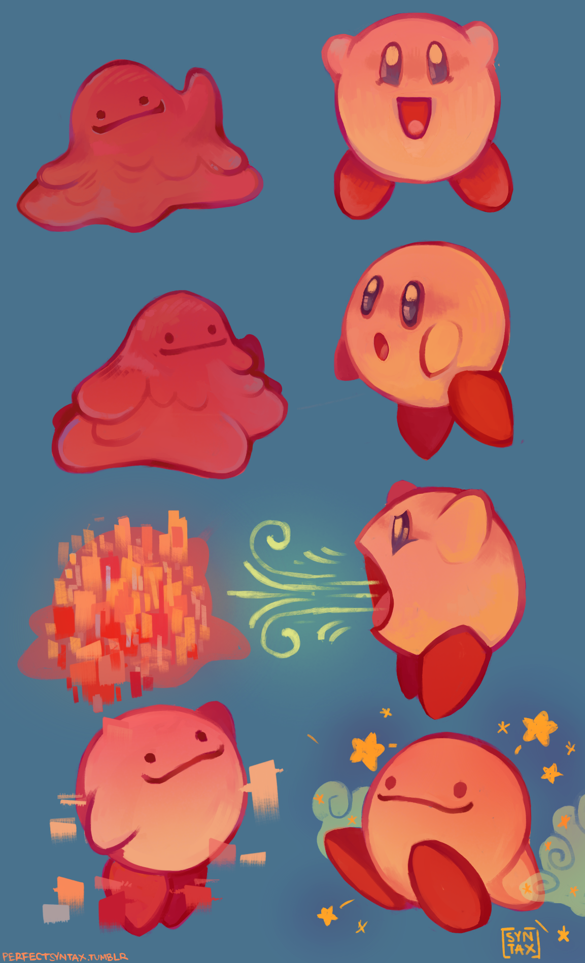 If Kirby and Ditto Copied Each Other...