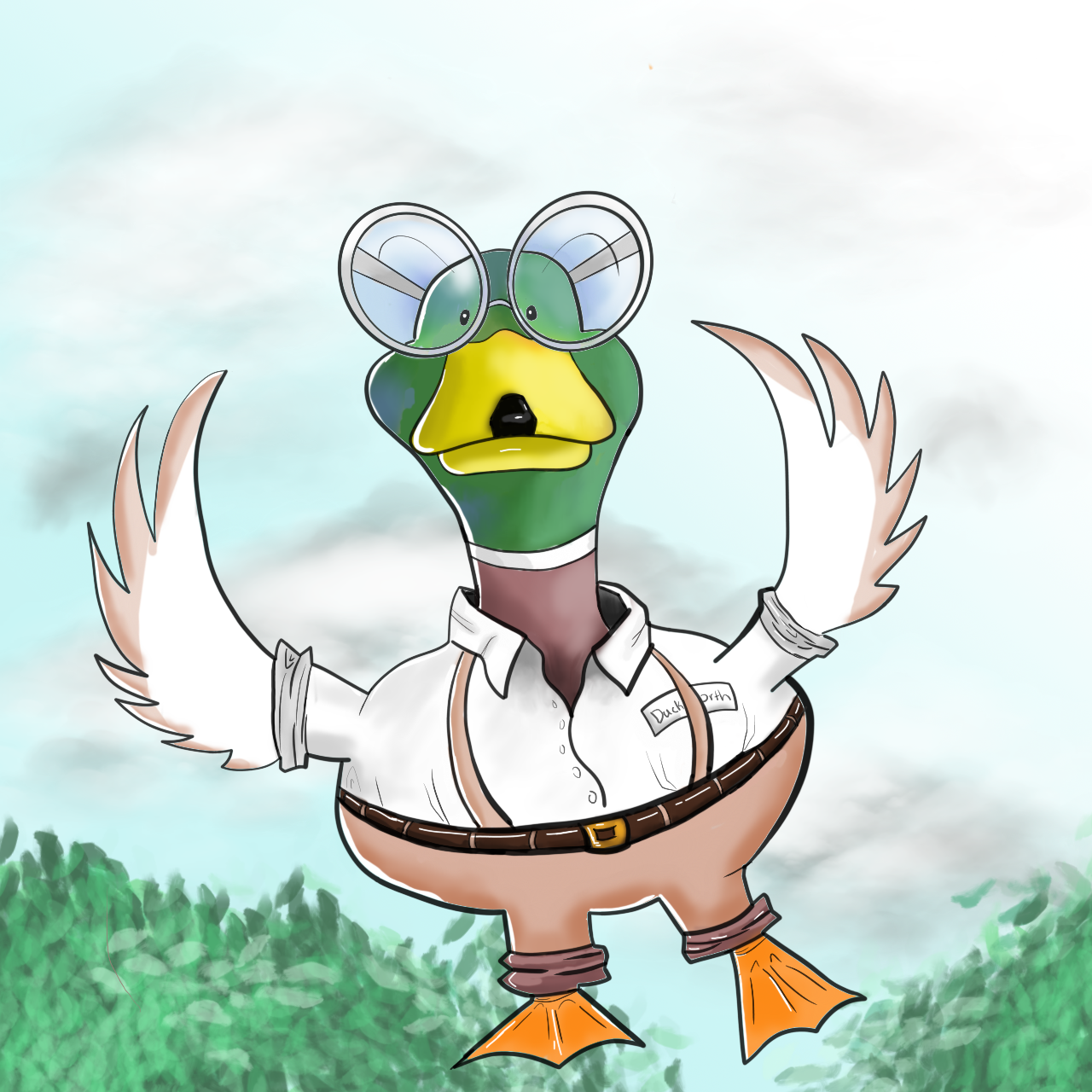 Character Ducksworth from my upcoming book Quizzy