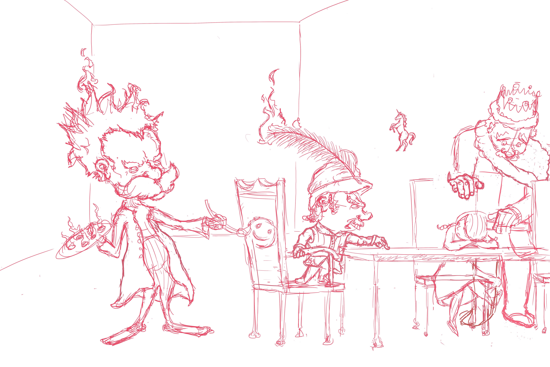 """COTM Progress sketch """"Destructive art"""""""