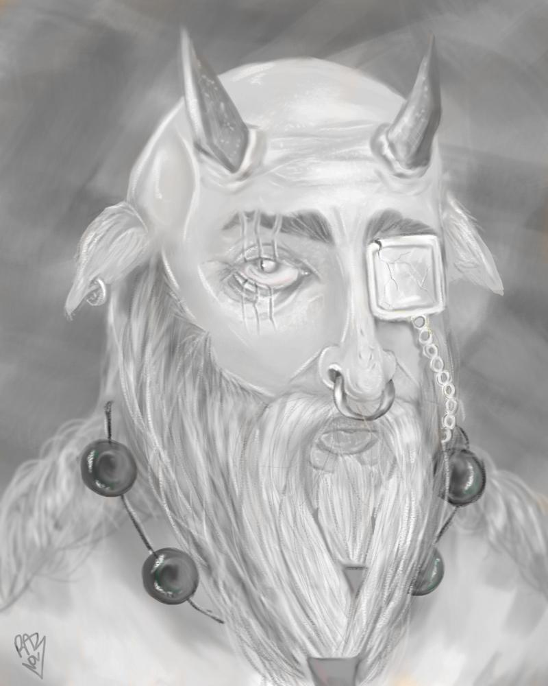 a goat man portrait